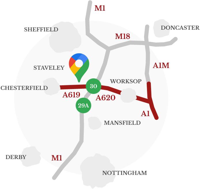 Barrow Hill Location Map - Sat Nav code S43 2PR